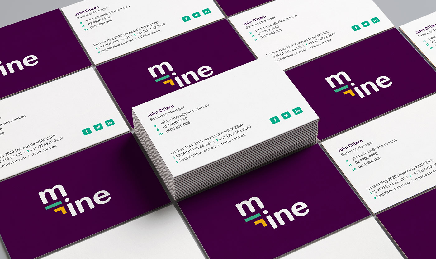 Mine business cards