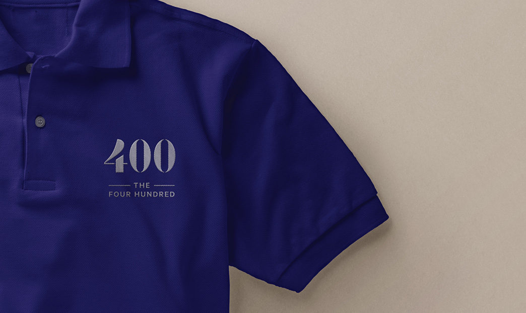 400 logo on polo