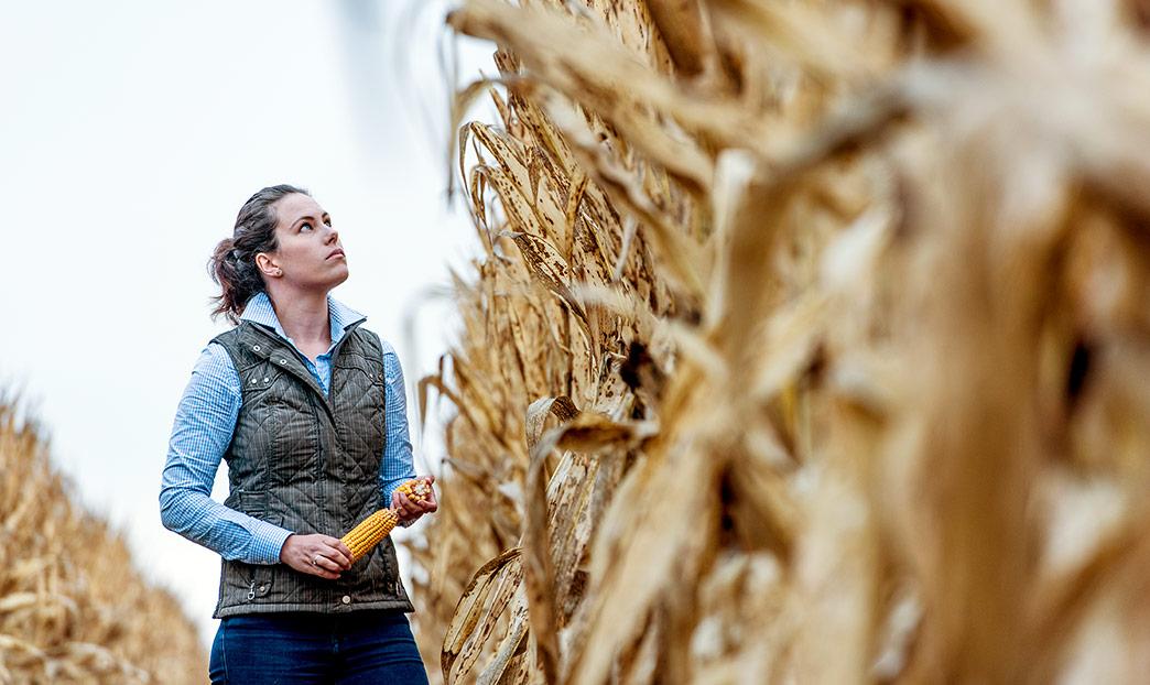 Woman holding corn