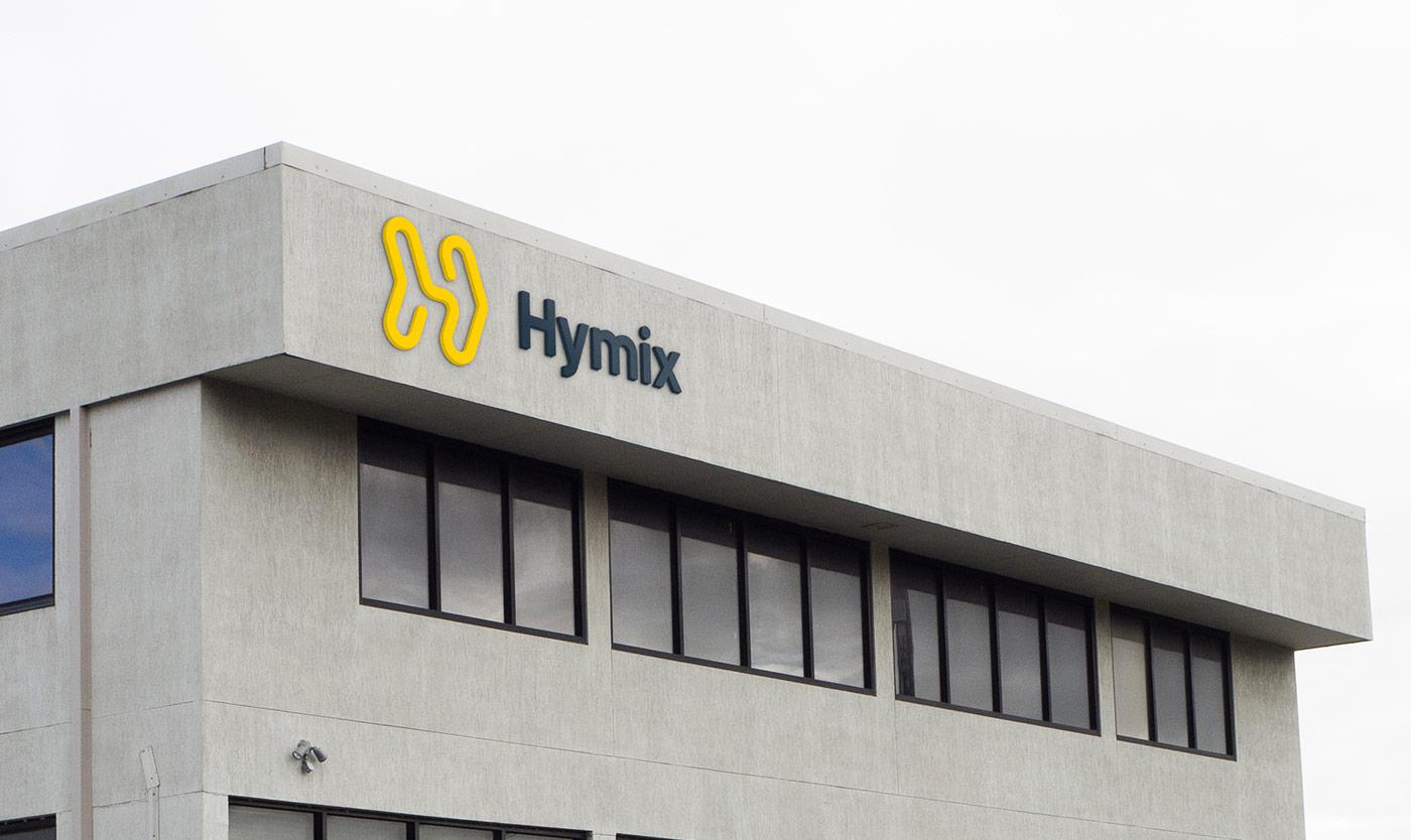 Hymix building signage