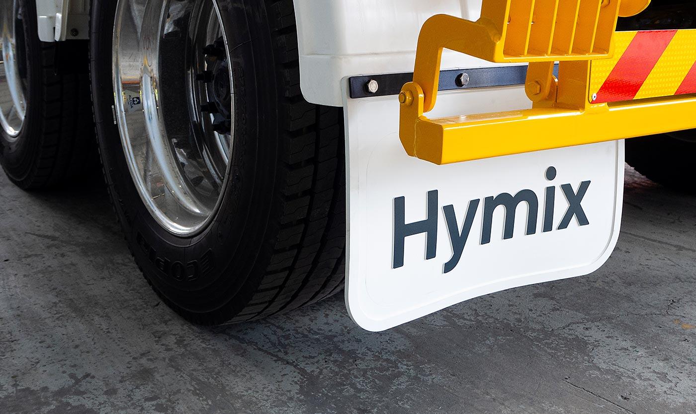 Hymix mudflap detail