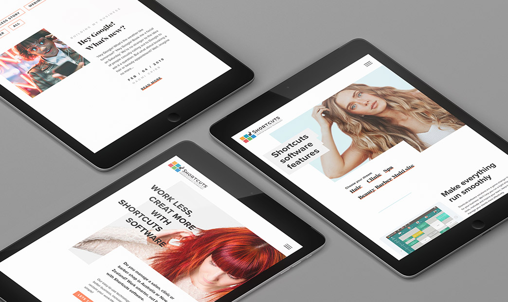 Ipad website screens